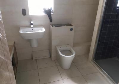 comfort room bowl and lavatory