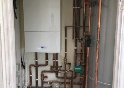 complex tubes connected on a boiler